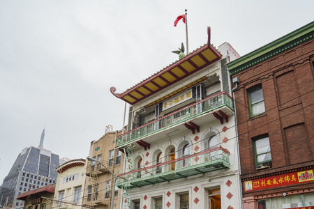 San Fransisco, APR 17: The historical Chinatown on APR 17, 2017 at San Francisco, California