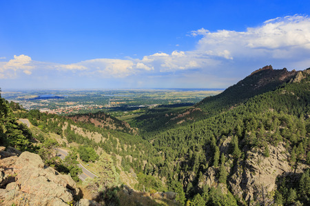 Aerial view of the Boulder city space, Colorado