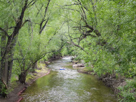 landscape along Boulder Creek, Colorado Stok Fotoğraf