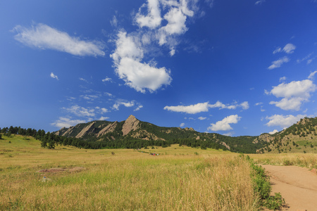 The famous Flatirons at Boulder, Colorado, United States