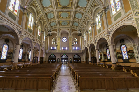 Sacramento, FEB 20: Interior view of the Cathedral of the Blessed Sacrament on FEB 20, 2018 at Sacramento, California Editorial
