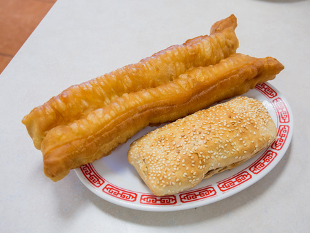 Taiwanese traditional breaksfast - Clay oven rolls and  fried bread stick
