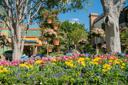 Los Angeles, FEB 18: Beautiful stores in downtown Disney District on FEB 18, 2018 at Los Angeles