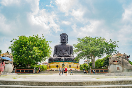 Changhua, MAY 25: Hugh Buddha statue in Eight Trigram Mountains Buddha Landscape on MAY 25, 2018 at Changhua, Taiwan