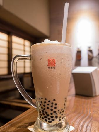 Taichung, MAY 25: Bubble Tea from the original store of Chun Shui Tang on MAY 25, 2018 at Taichung, Taiwan Sajtókép