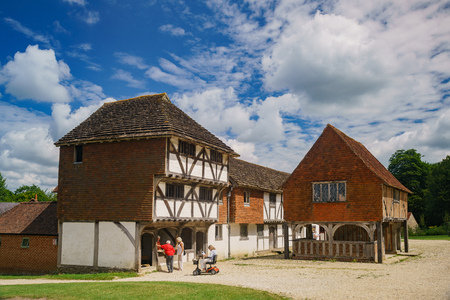 Chichester, JUN 8: Special old house and life display in Weald & Downland Living Museum on JUN 8, 2017 at Chichester, United Kingdom