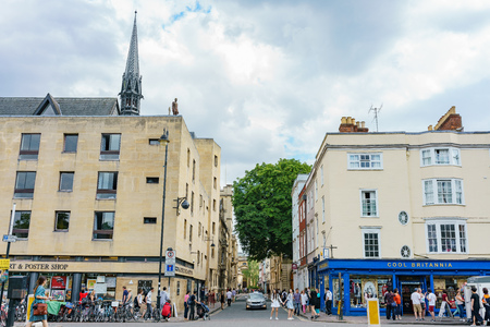 Oxford, JUL 9: Beautiful city street view on JUL 9, 2017 at Oxford, United Kingdom