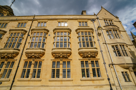 Exterior view of a beautiful building at Oxford, United Kingdom