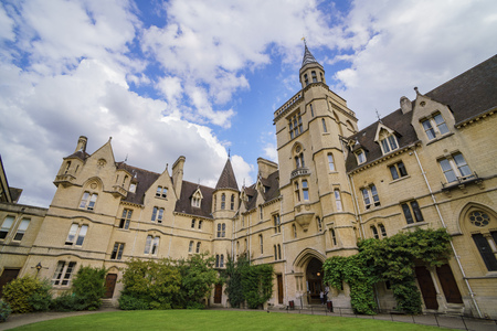 Front quadrangle Balliol college at Oxford, United Kingdom