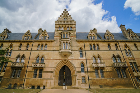 Exterior view of the famous Christ Church Cathedral at Oxford, United Kingdom Stock Photo