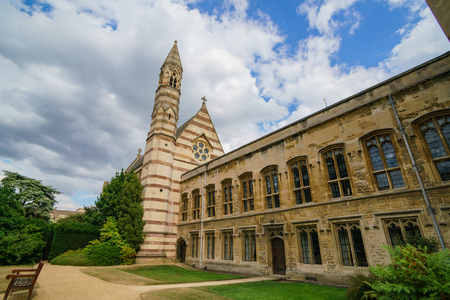 External chapel of Balliol college at Oxford, United Kingdom