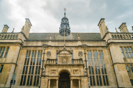 Oxford, JUL 9: Exterior view of the Oxford Town Hall on JUL 9, 2017 at Oxford, United Kingdom