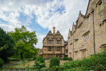 Beautiful street view and building of Oxford at United Kingdom Editorial