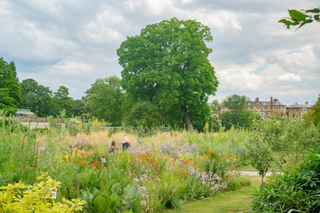 The beautiful University of Oxford Botanic Garden at Oxford, United Kingdom