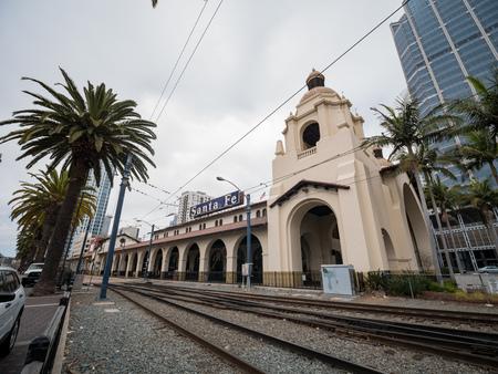 San Diego, JUN 29: The historical Santa Fe station on JUN 29, 2018 at San Diego, California