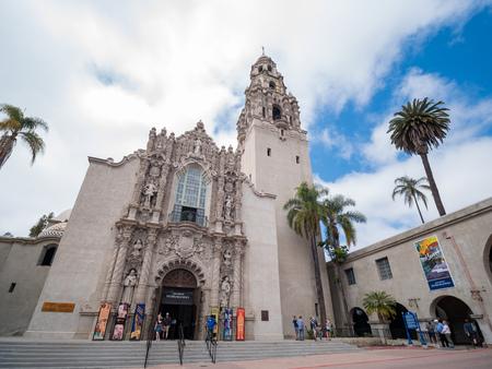 San Diego, JUN 27: San Diego Museum of Men in the historical Balboa Park on JUN 27, 2018 at San Diego, California Editorial