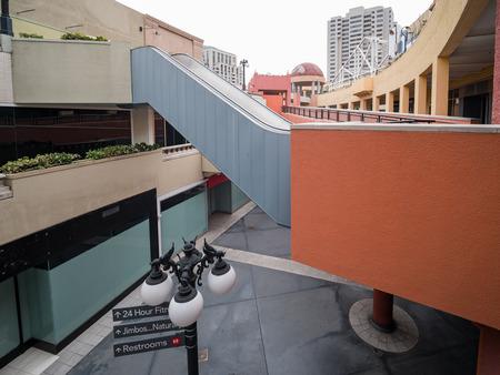 San Diego, JUN 29: The Horton Plaza Mall on JUN 29, 2018 at San Diego, California