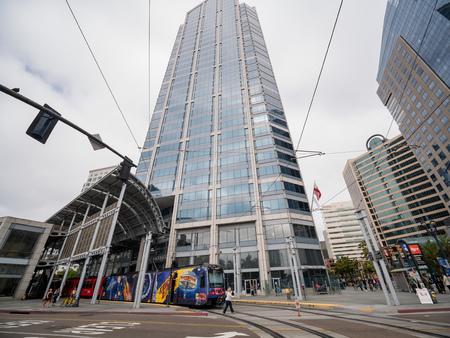 San Diego, JUN 29: The metro transpotation on JUN 29, 2018 at San Diego, California Editorial