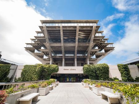 San Diego, JUN 29: The famous Geisel Library of Universtiy of California San Diego on JUN 29, 2018 at San Diego, California