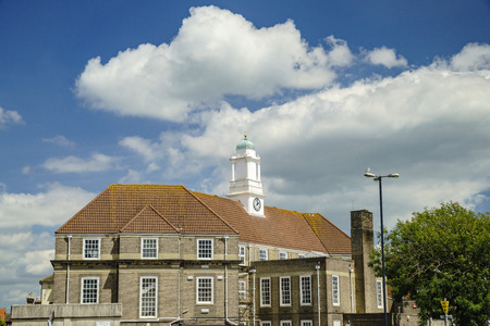 Exterior view of the Bognor Regis Town Council at United Kingdom Editorial