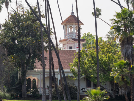 The beautiful Queen Anne Cottage building at Los Angeles, California 報道画像