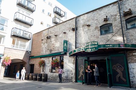 Dublin, JUL 1: Exterior view of the Jameson Distillery on JUL 1, 2018 at Dublin, Ireland