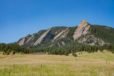Beautiful landscape of Flatirons at Boulder, Colorado