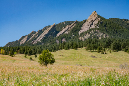 Beautiful landscap of Flatirons at Boulder, Colorado