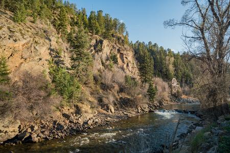 Charlie Tayler Water Wheel at Idaho Springs, Colorado Фото со стока