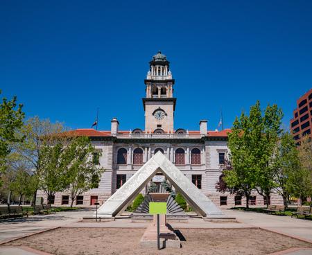 Exterior view of the Colorado Springs Pioneers Museum, Colorado Stock Photo - 105850926