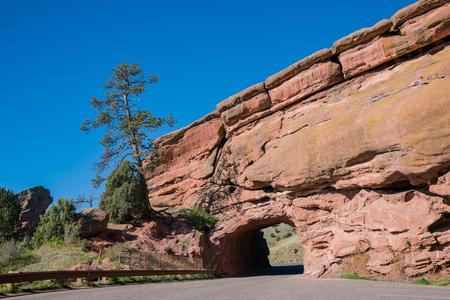 Beautiful landscape of Red Rocks Colorado at Denver, Colorado