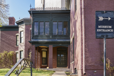 Denver, MAY 3: Exterior view of the Byers-Evans House Museum on MAY 3, 2017 at Denver, Colorado 에디토리얼