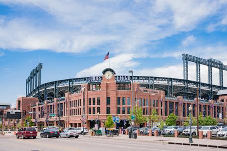 Denver, MAY 7: Exterior view of Coors Field on MAY 7, 2017 at Denver, Colorado