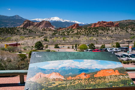 Manitou Springs, MAY 4: Beautiful landscape of the famous Garden of the Gods on MAY 4, 2017 at Manitou Springs, Colorado Editorial
