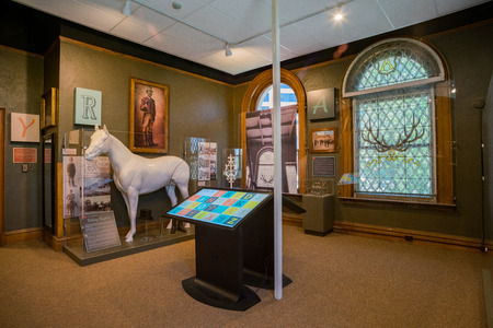 Colorado Springs, MAY 4: Interior view of the  Pioneers Museum on MAY 4, 2017 at Colorado Springs, Colorado