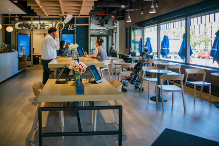 Boulder, MAY 5: Interior view of the Capital One Cafe on MAY 5, 2017 at Boulder, Colorado Editorial