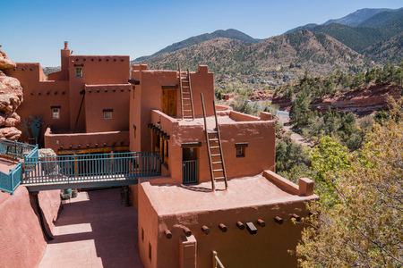 Manitou Springs, MAY 4: The special Manitou Cliff Dwellings museum on MAY 4, 2017 at Manitou Springs, Colorado Editorial