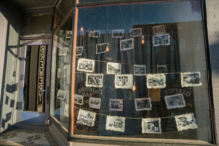 Iadho Springs, MAY 4: Store hanging old photos on MAY 4, 2017 at Idaho Springs