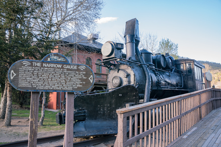 Iadho Springs, MAY 4: The Narrow Gauge train on MAY 4, 2017 at Idaho Springs