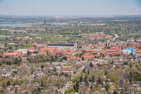 Aerial view of University of Colorado, Boulder Stock Photo - 106814198
