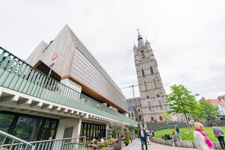 Ghent, APR 28: Exterior view of the Het Belfort van Gent  on APR 28, 2018 at Ghent, Belgium Editorial