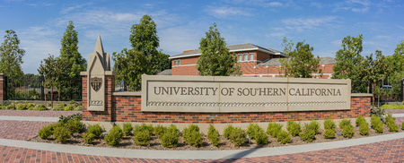Los Angeles, SEP 2: Sign of University of Southern California on SEP 2, 2017 at Los Angeles, California