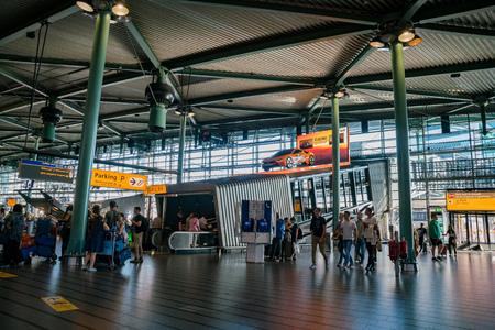 Schiphol, JUL 21: Interior view of the Schiphol international airport on JUL 21, 2017 at Schiphol, Netherlands