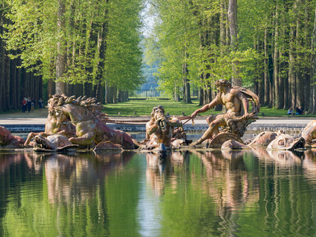 The beautiful Apollo Fountain of Place of Versailles at France Éditoriale