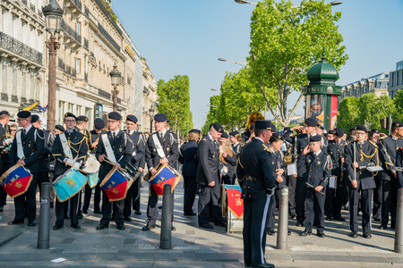 France, MAY 7: Veterans Day at Paris, France on MAY 7, 2018 at Paris, France