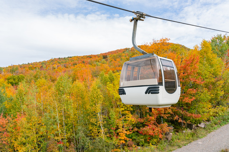 Aerial view of Mont-Tremblant National Park in fall color at Quebec, Canada Stock Photo