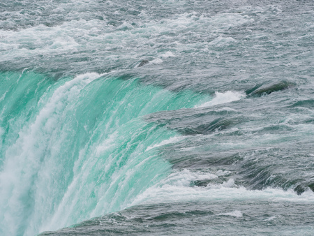 Close up of the beautiful Horseshoe Fall at Canada