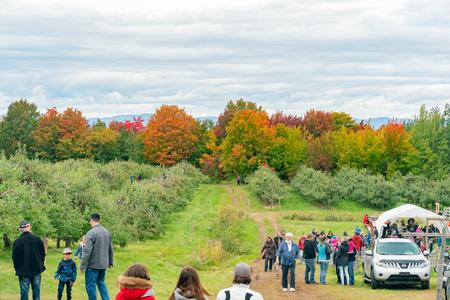 Quebec, OCT 3: Beautiful landscape around a Cidrerie farm on OCT 3, 2018 at Quebec, Canada