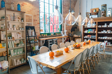 Toronto, OCT 5: Interior view of a store in The Distillery Historic District on OCT 5, 2018 at Tornoto, Canada