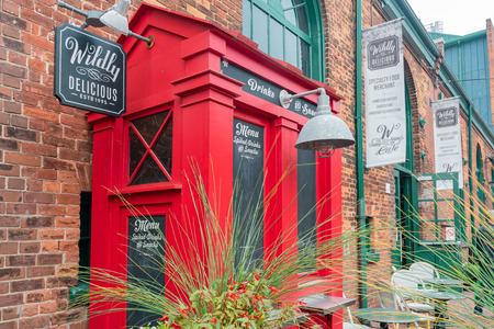 Toronto, OCT 5: Walking in The Distillery Historic District on OCT 5, 2018 at Tornoto, Canada